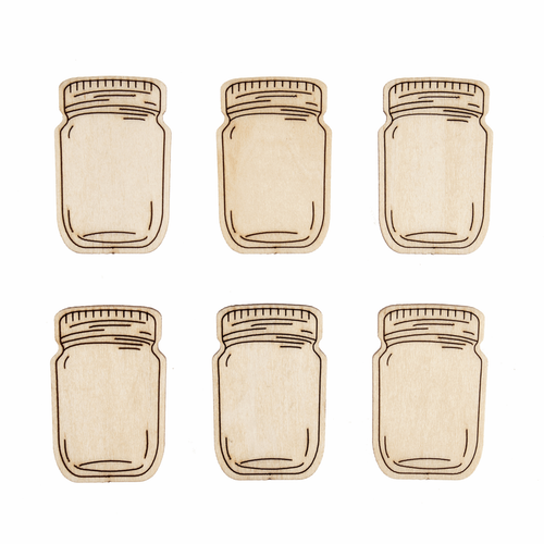 Wooden Jar Embellishments (Pack of 12)