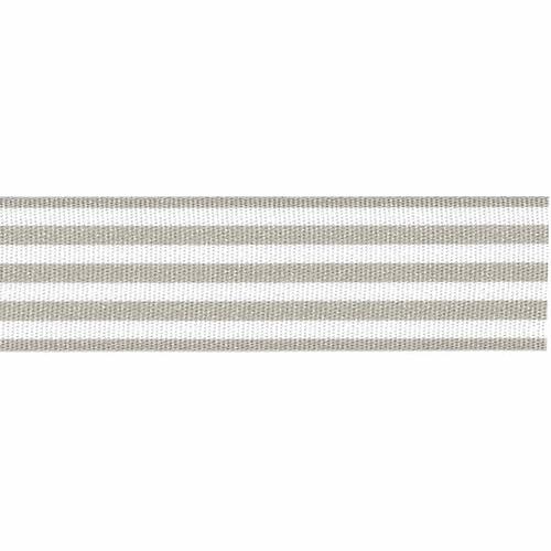 Grey & White Stripe Ribbon, 25mm wide (Sold Per Metre)