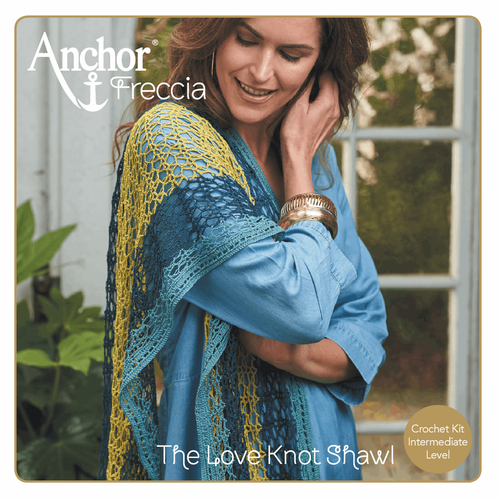 "Sea Coast Charming Stole ""Love Knot Shawl"" Crochet Kit"