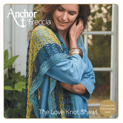 """Sea Coast Charming Stole """"Love Knot Shawl"""" Crochet Kit"""