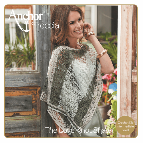 "Deep Forest Charming Stole ""Love Knot Shawl"" Crochet Kit"