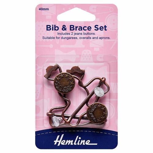 Bronze 40mm Bib & Brace Set (2pc)