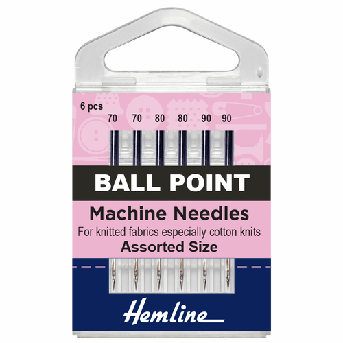 Machine Needles - Ball Point - Assorted Sizes 70-90