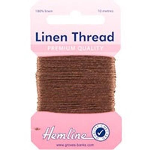 Brown Linen Thread (10mtr)