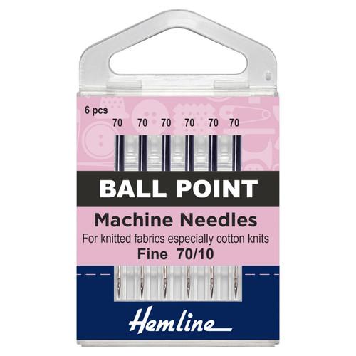 Machine Needles - Ball Point - Fine, Size 70/10