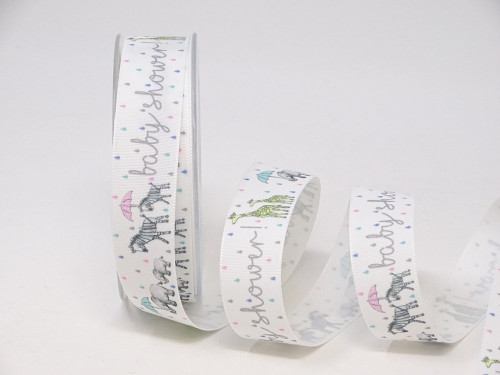 Baby Shower Parade Ribbon, 25mm wide (Sold Per Metre)