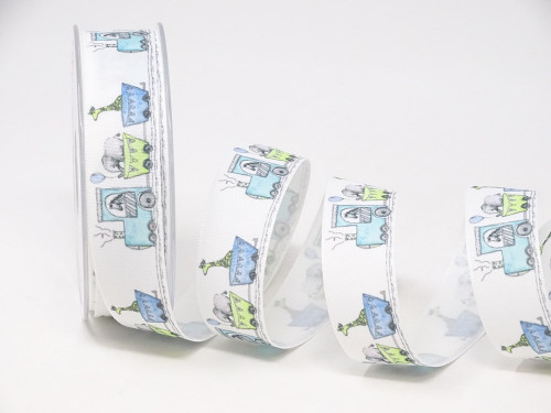 Baby Train Ribbon, 25mm wide (Sold Per Metre)