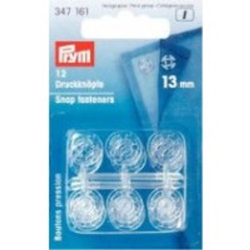 Large Acrylic Snap Fasteners, 13mm diameter (12 sets)