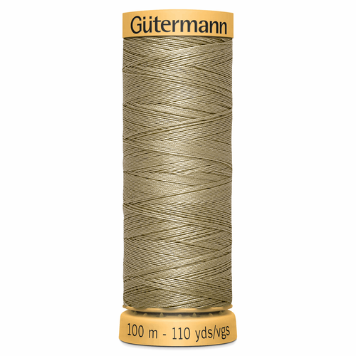 0816 Natural Cotton Sewing Thread 100mtr Spool