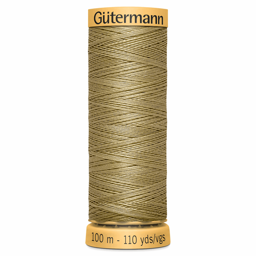 0826 Natural Cotton Sewing Thread 100mtr Spool