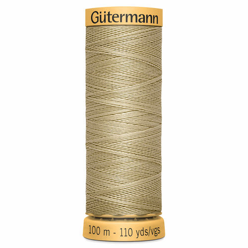 0927 Natural Cotton Sewing Thread 100mtr Spool