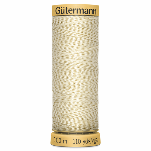 0429 Natural Cotton Sewing Thread 100mtr Spool