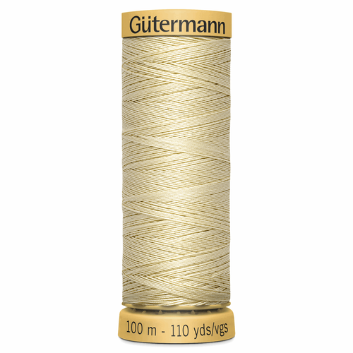 0828 Natural Cotton Sewing Thread 100mtr Spool