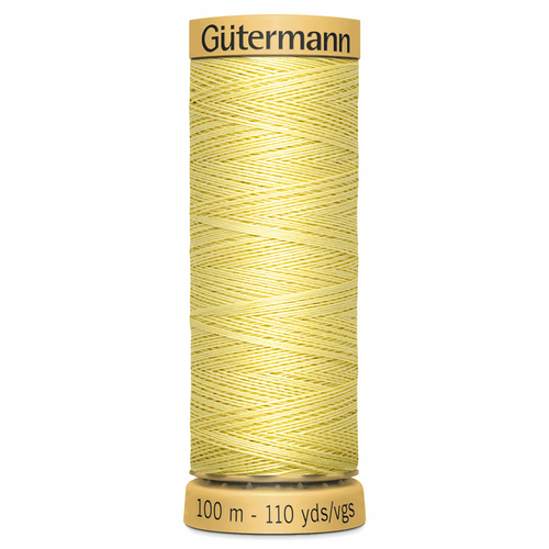 0349 Natural Cotton Sewing Thread 100mtr Spool