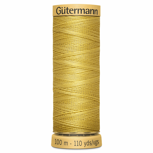 0758 Natural Cotton Sewing Thread 100mtr Spool