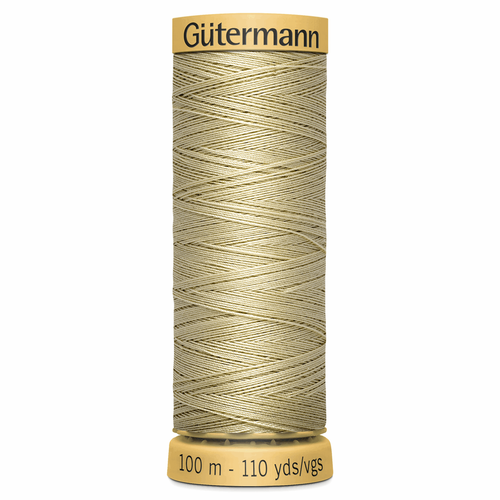 0928 Natural Cotton Sewing Thread 100mtr Spool