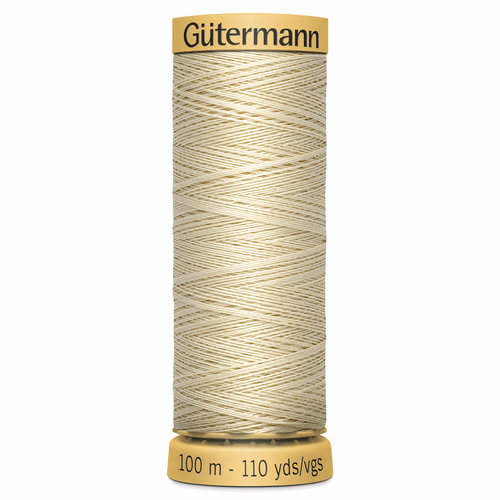 0519 Natural Cotton Sewing Thread 100mtr Spool