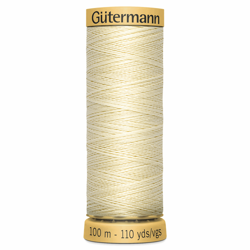 0919 Natural Cotton Sewing Thread 100mtr Spool