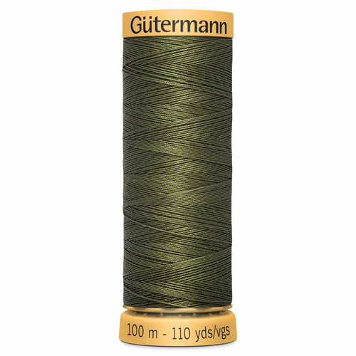 0424 Natural Cotton Sewing Thread 100mtr Spool