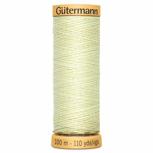 0128 Natural Cotton Sewing Thread 100mtr Spool