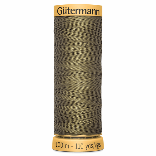 0825 Natural Cotton Sewing Thread 100mtr Spool
