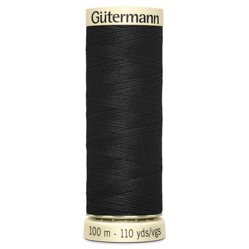 000 Black Sew-All Polyester Thread 100mtr Spool