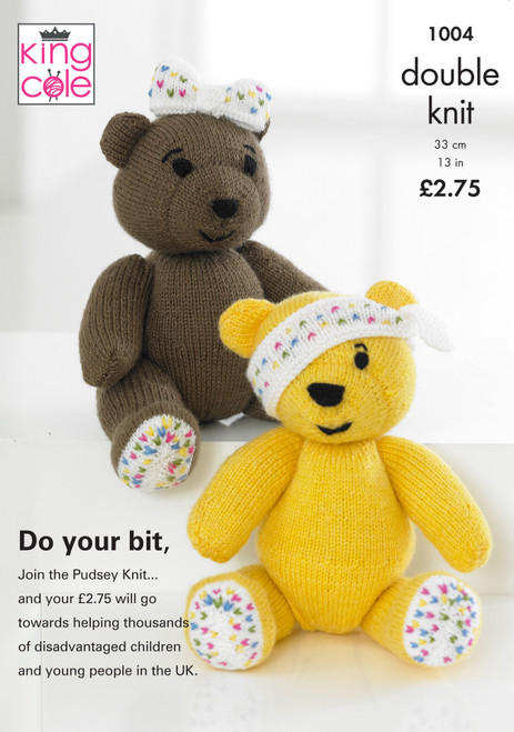 1004 Toy Teddy Bear DK Knitting Pattern