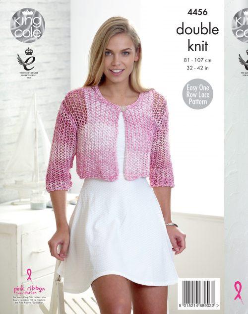 """4456 Ladies & Teens Cardigan DK Knitting Pattern Size: 32-42"""""""