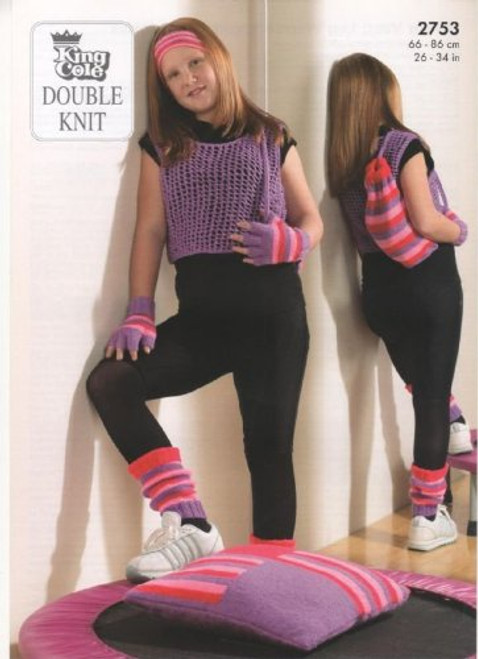2753 Childrens Pullover Jumper DK Knitting Pattern Size: 26-34""