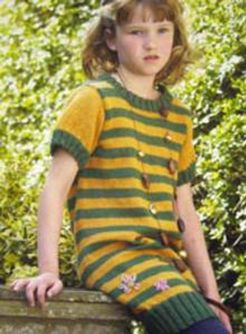 "3411 Childrens Cardigan DK Knitting Pattern Size: 23-30"""