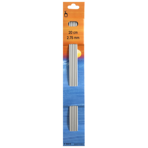 2.75mm Set of 5 Double-Ended Knitting Pins, 20cm length