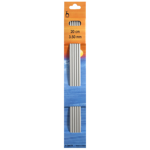 3.50mm Set of 5 Double-Ended Knitting Pins, 20cm length