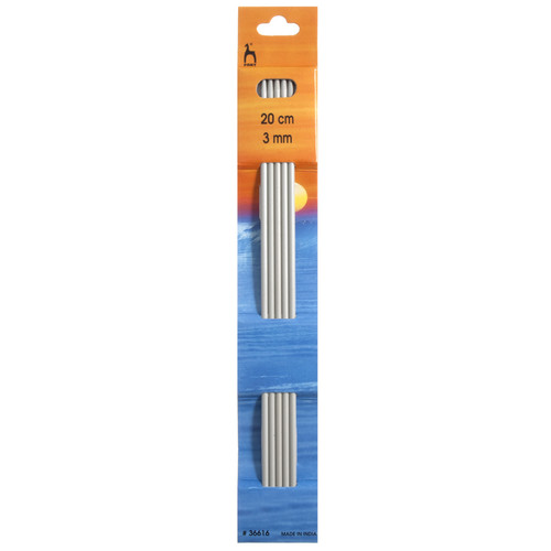 3.00mm Set of 5 Double-Ended Knitting Pins, 20cm length