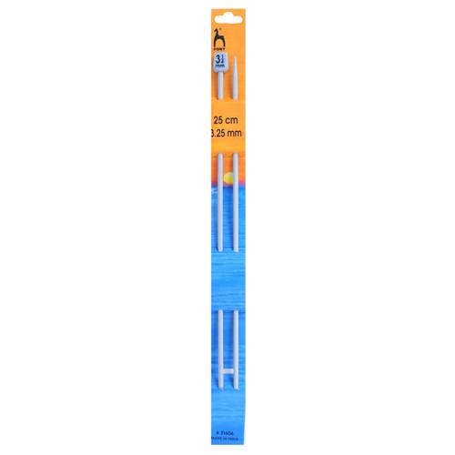 "3.25mm (UK10) Classic Knitting Pins, 25cm/10"" length"