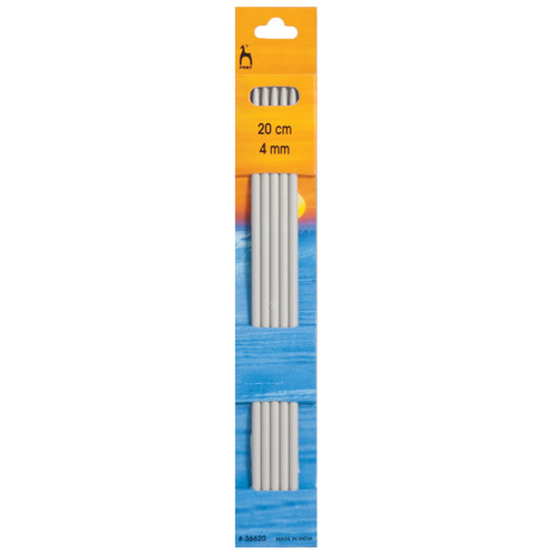 4.00mm Set of 5 Double-Ended Knitting Pins, 20cm length