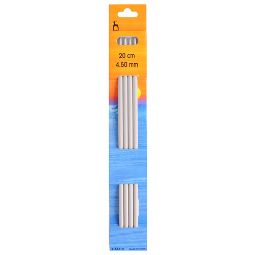 4.50mm Set of 4 Double-Ended Knitting Pins, 20cm length