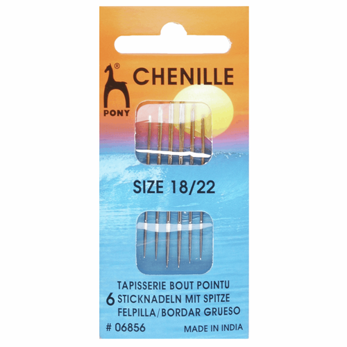 Hand Sewing Needles - Chenille - Assorted Sizes 18-22