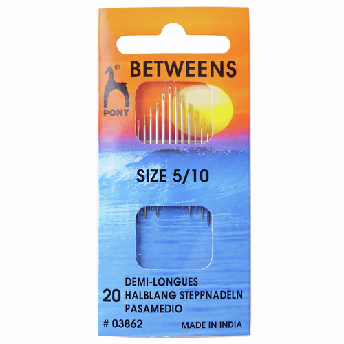 Hand Sewing Needles - Betweens - Assorted Sizes 5-10