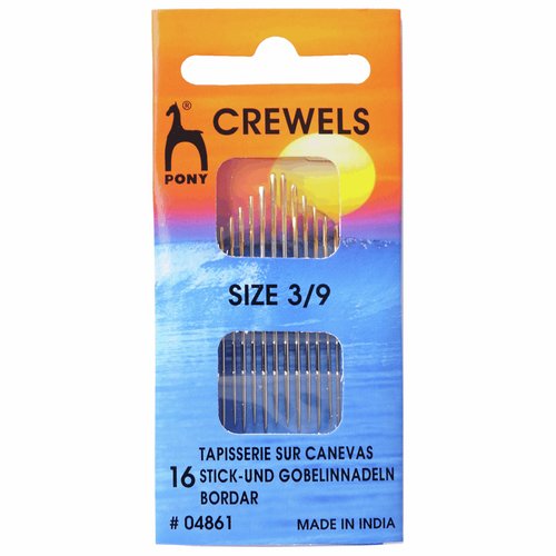 Hand Sewing Needles - Crewels - Assorted Sizes 3-9