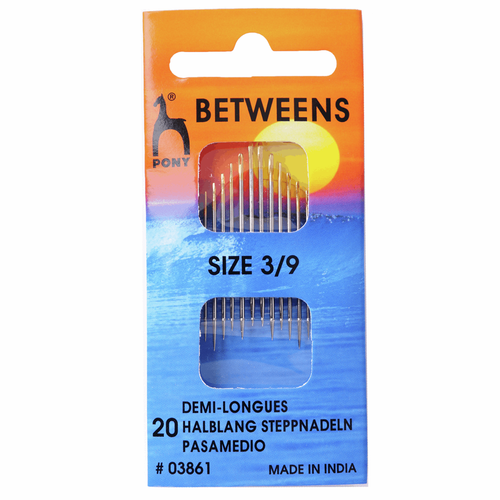 Hand Sewing Needles - Betweens - Assorted Sizes 3-9