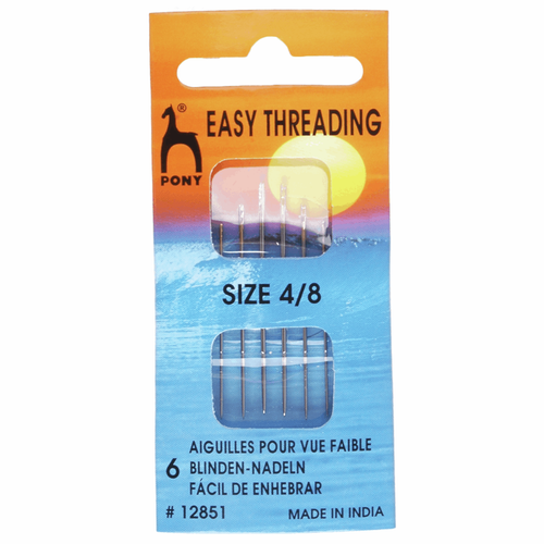 Hand Sewing Needles - Easy Thread - Assorted Sizes 4-8