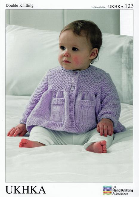 "123 Baby Blanket & Cardigan DK Knitting Pattern Size: 12-20"""