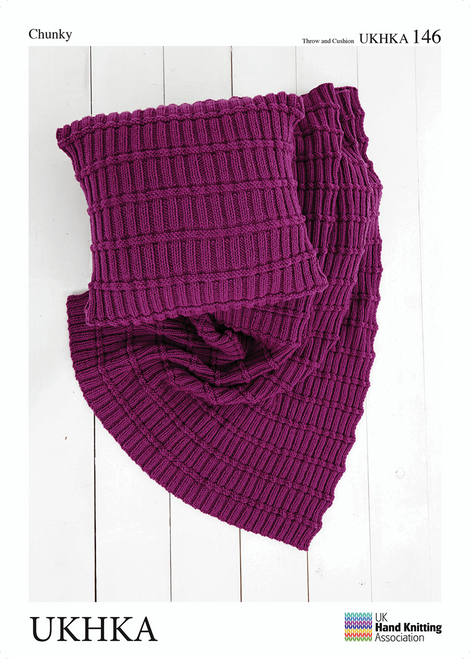 146 Homeware Cushion & Throw Chunky Knitting Pattern