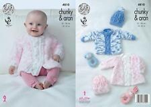 2688 Baby Dress, Cardigan & Hat 3 Ply Crochet Pattern Size: Birth - 1yrs
