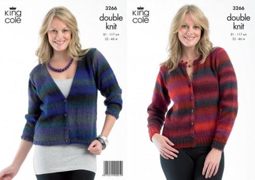 """3266 Ladies & Teens Cardigan Riot DK Knitting Pattern Size: 32-44"""""""