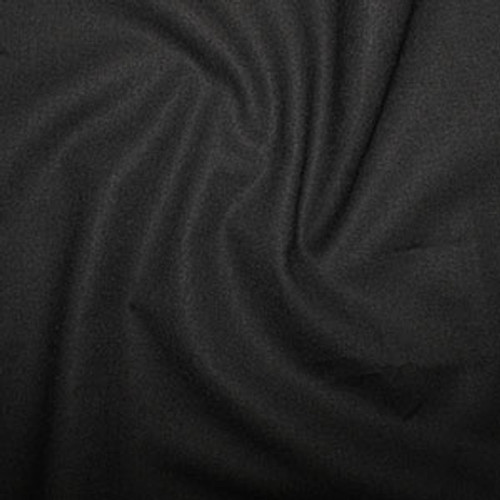 Black 100% Cotton Fabric, 112cm/44in wide, Sold Per HALF Metre
