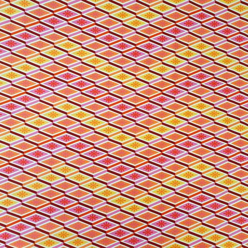 """Eden Labyrinth """"Peach"""" by Tula Pink Cotton Fabric, 112cm/44in wide, Sold Per HALF Metre"""