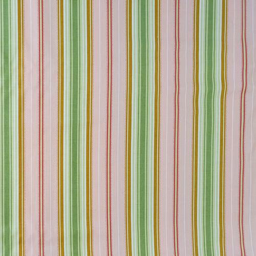 "Freshcut ""Peach"" Lounge Stripe Cotton Fabric, 112cm/44in wide, Sold Per HALF Metre"