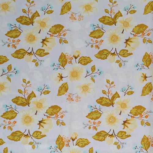 "Promenade ""Vintage Blue"" Floral Cotton Fabric, 112cm/44in wide, Sold Per HALF Metre"