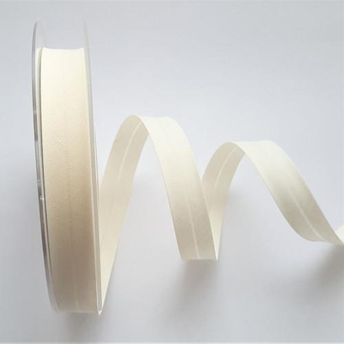 Cream Polycotton Bias Binding, 18mm wide, Sold Per Metre